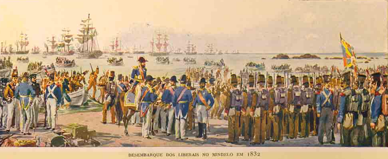 DESEMBARQUE DOS LIBERAIS NO MINDELO - 1832 - ROQUE GAMEIRO