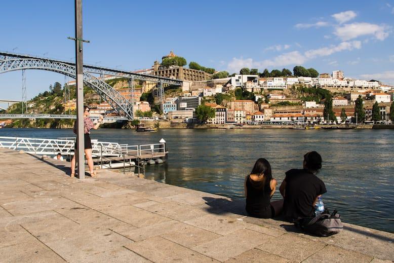 view ribeira neighborhood luis bridge porto