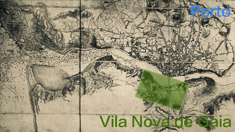 mapa antigo porto gaia caves vinho porto