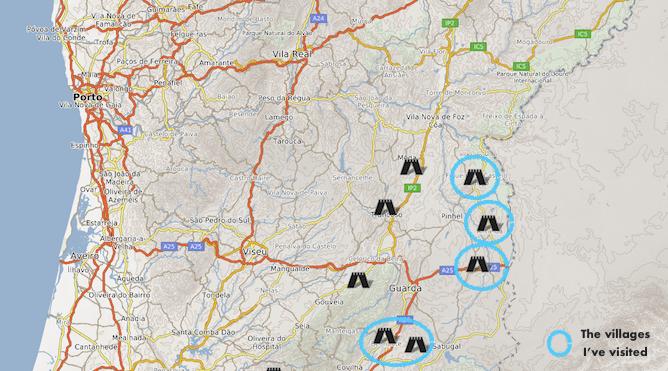 aldeias portuguesas deslumbrantes mapa