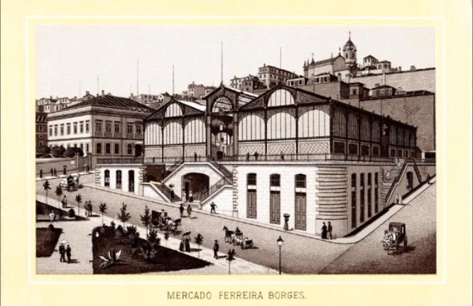 old pictures mercado ferreira borges porto