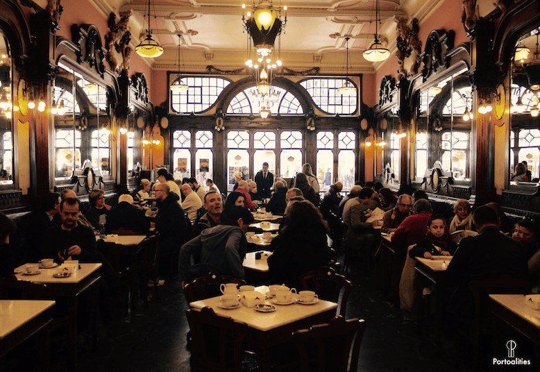 history famous cafe majestic porto decor