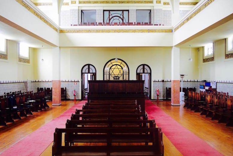 sinagoga porto interior detalhes