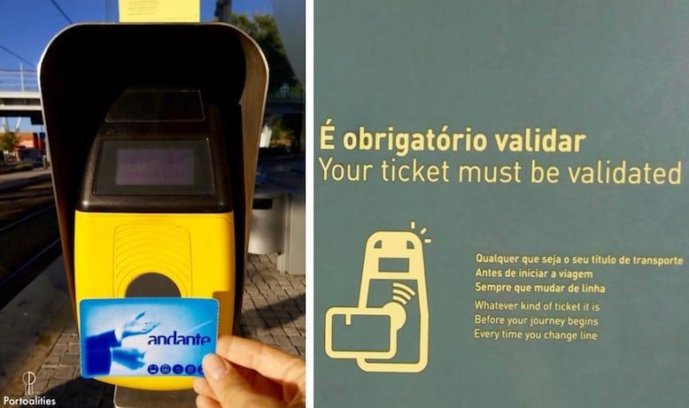 metro porto validate ticket