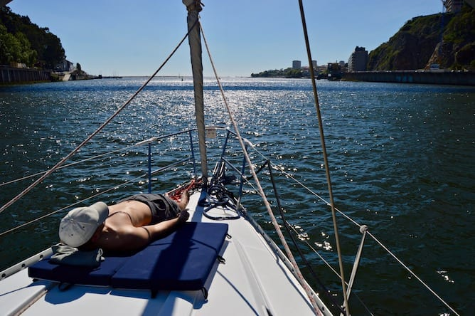 romantic activity porto sun bathing sailing boat porto