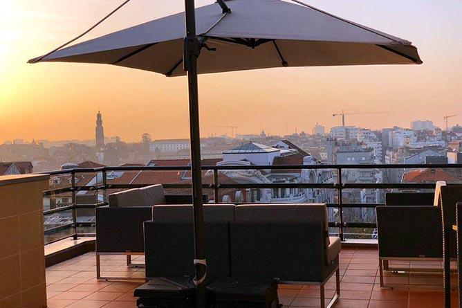 rooftop porto coliseum hotel view