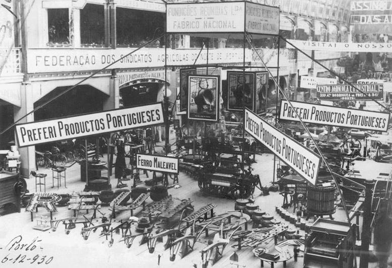 Exposição industrial de Dezembro de 1930. Foto retirada do blog www.portoarc.blogspot.pt