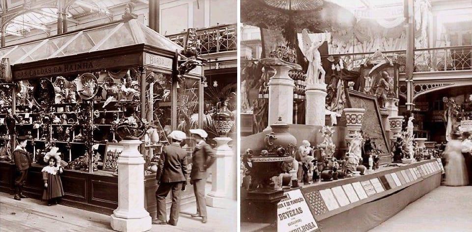 Exposição de louças das Caldas em 1901 – Foto Aurélio Paz dos Reis, retirada do blog www.portoarc.blogspot.pt