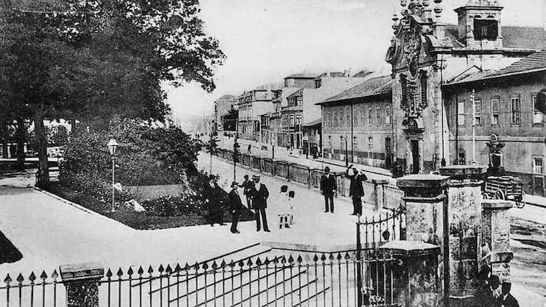 Jardim de S. Lázaro no início do século XX.