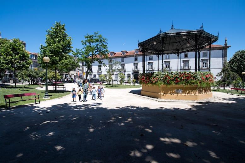 O coreto do Jardim de São Lázaro. Foto da autoria de Miguel Nogueira.