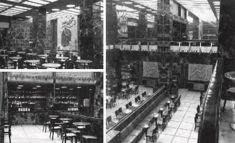 Fotos do anterior do Café Rialto.