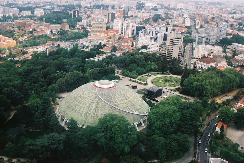 vista jardins palacio cristal