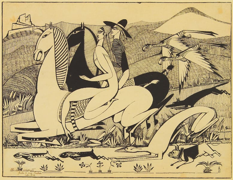 amadeo_de_souza-cardoso_the_hawks_1912_indian_ink_on_paper_27_x_243_cm