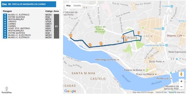 how travel tram in porto tram line 18 massarelos carmo