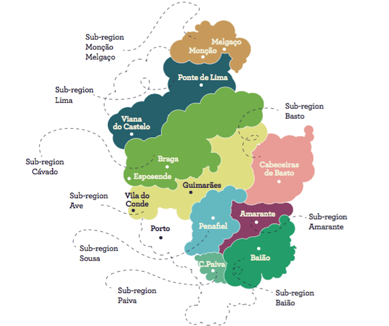 green wine portugal best wineries map