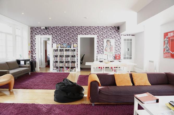 living room rivoli cinema hostel porto