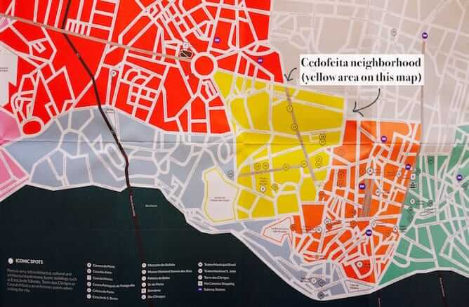 map cedofeita neighborhood porto