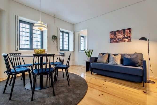 sala estar oporto serviced apartments cabral cedofeita
