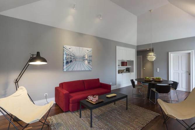 sala estar oporto services apartments onde ficar porto
