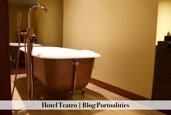 hoteis boutique porto hotel teatro quarto banheira detalhes