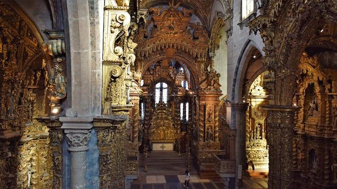 st francis church porto golden leaf