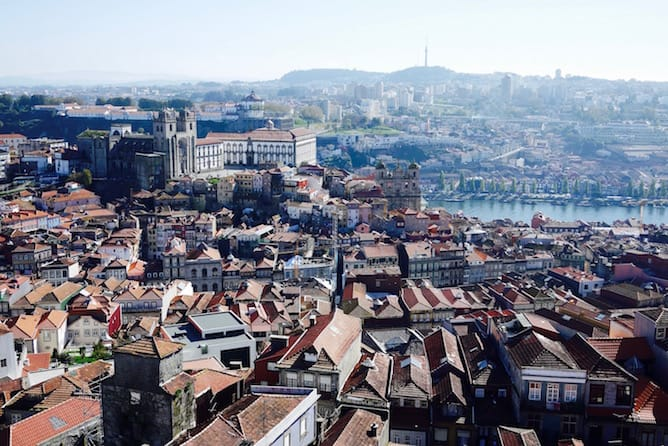 view clerigos tower porto