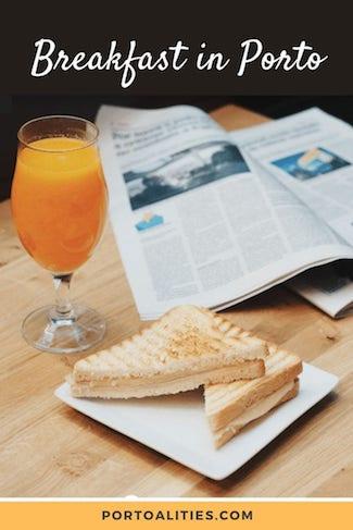 cheese toast orange juice breakfast porto