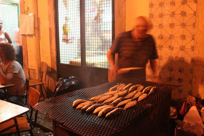 São João festival porto grilled sardines