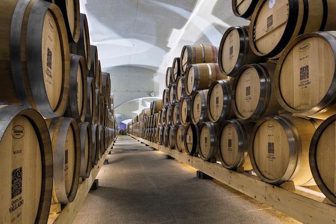 quinta vallado hotel douro wine cellar barrels