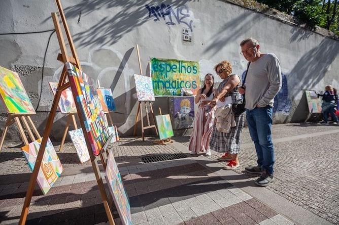 simultaneous inaugurations art galleries miguel bombarda porto