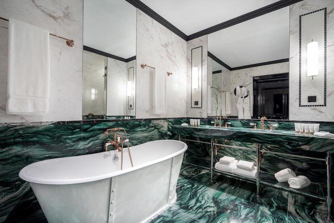 monumental palace hotel porto marble bathroom