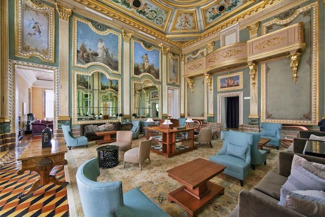 palacio freixo luxury hotel porto lounge