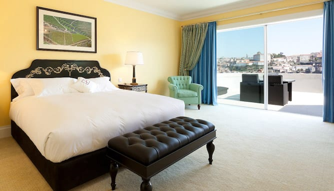 the yeatman hotel porto double bedroom