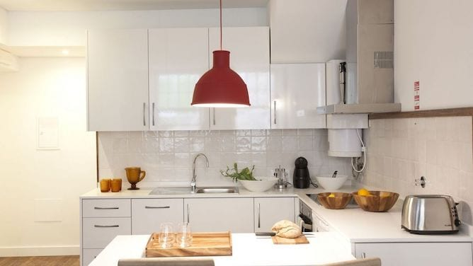 casual chic apartment stay porto kitchen