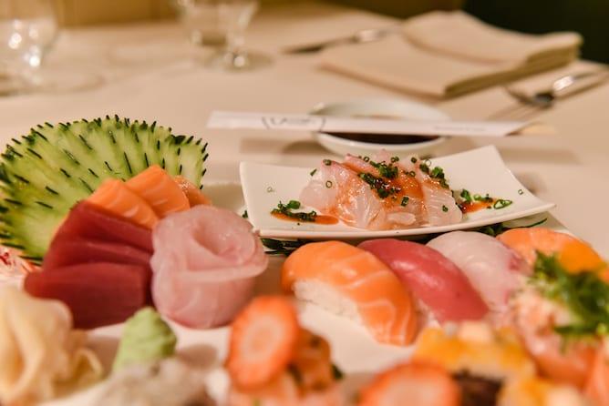 wish restaurante foz prato sashimi