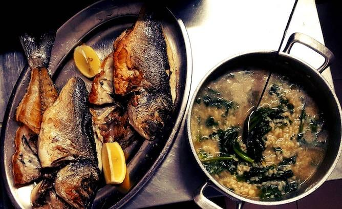 grilled bass salta muro seafood restaurant porto