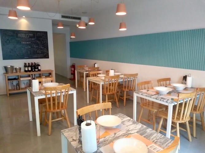 interior restaurante moules porto