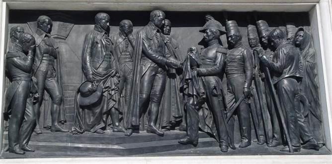 dom pedro monument aliados