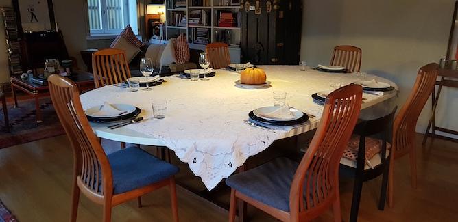 largo ouro mesa jantar