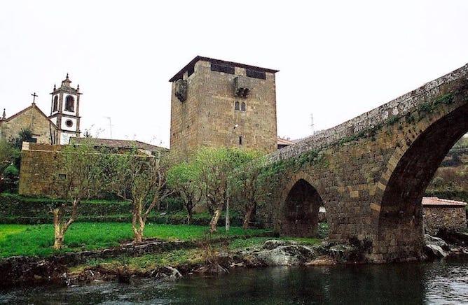 medieval bridge ucanha wine village douro valley