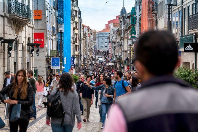 santa catarina shopping street porto