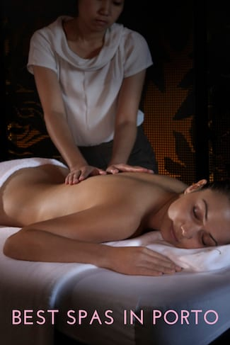 best spas porto woman having back massage