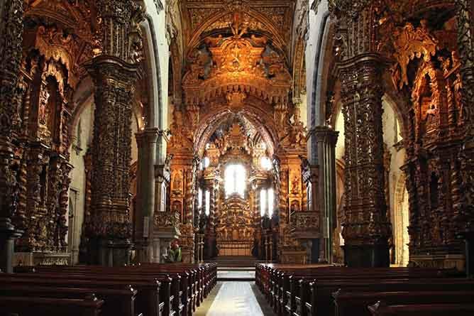 ribeira porto saint francis church gold