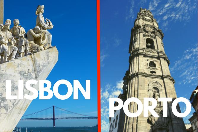 best city visit porto or lisbon