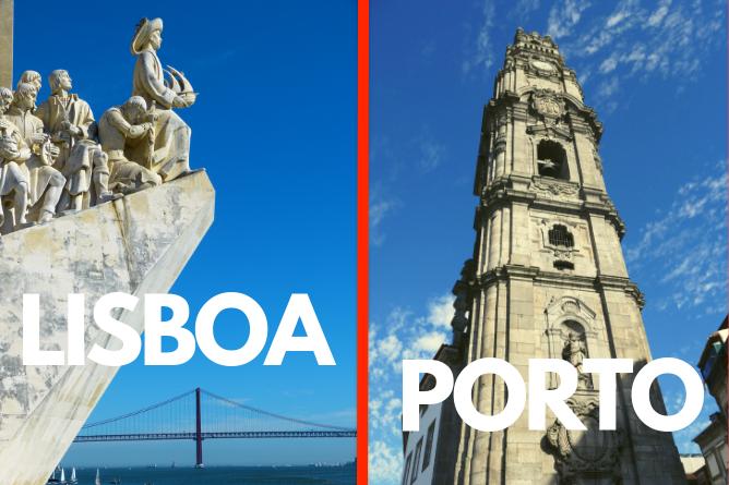 melhor cidade visitar porto ou lisboa