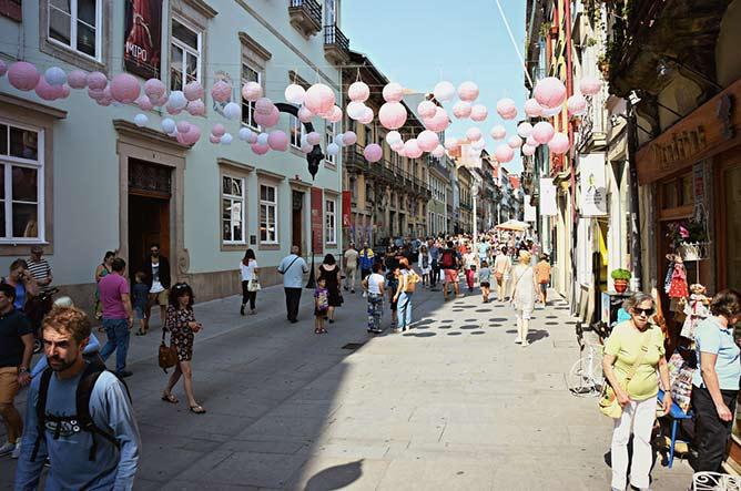 rua sem carros rua flores porto