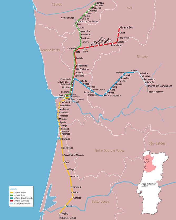 train lines porto portugal