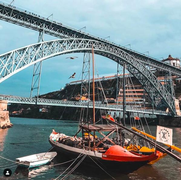 barco rabelo ponte dom luiz ribeira porto