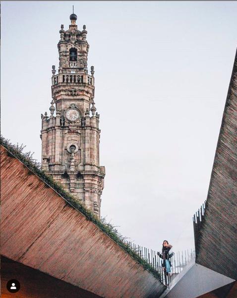 clerigos tower seen from lello bookshop