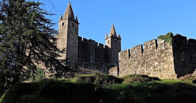 santa maria feira castle near porto